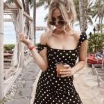 omuz açık yaz elbisesi
