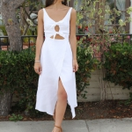 seksi yazlık beyaz elbise