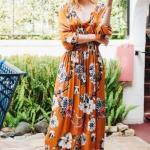 turuncu uzun elbise modelleri 2018