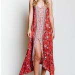 yırtmaçlı uzun elbise modelleri 2018