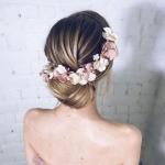 çiçek saç taçları 2019