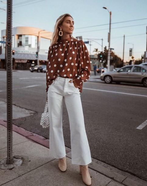 2018 yaz beyaz pantolon kombini