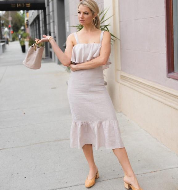 2018 yaz keten elbise modelleri