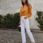 2018 yaz modası beyaz pantolon kombini