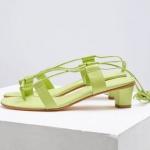 bağcıklı kısa topuz sandalet 2018