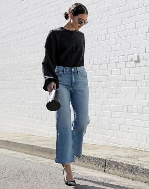 geniş paça kot pantolonlar 2019