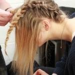 ince telli saçlar için örgü saç modelleri