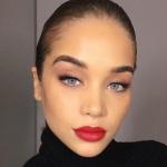 kırmızı ruj ile makyaj modelleri 2019