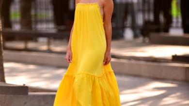 sarı elbise kombinleri 2018 2019