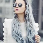 uzun gri saç modelleri 2019