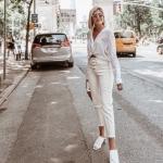 yüksel bel beyaz kot pantolon modelleri 2019