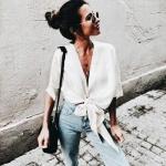 yazlık bağlamalı bluz modelleri 2019