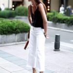 yazlık beyaz kot pantolon modelleri ve kombinler 2019