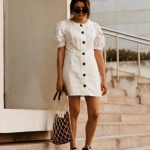 yazlık düğmeli keten elbiseler