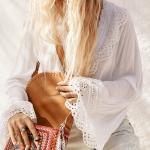 yazlık dantelli beyaz bluz modelleri 2019