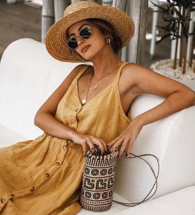 yazlık keten elbise modelleri 2020