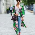 yeşil kimono kombini