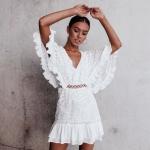 beyaz balayı elbise modeli 2019