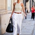 beyaz paperbag pantolon modeli 2019