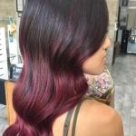 kızıl ombre saç modelleri
