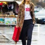 leopar desen uzun ceketler nasıl giyilir 2018 2019