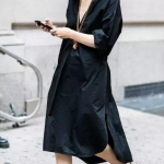 siyah sonbahar elbise modelleri 2019