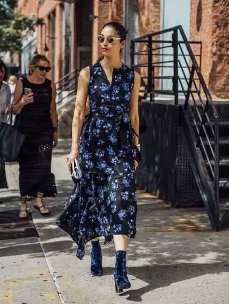 sonbahar midi elbise modelleri 2018
