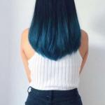 turkuaz ombre saç rengi