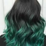 yeşil siyah saç rengi