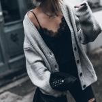 bayan gri hırka modelleri 2019