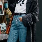 bayan uzun gri hırka modeli 2019