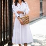 beyaz gömlek elbise sonbahar modası 2018 2019
