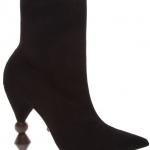 geometrik topuklu çorap bot