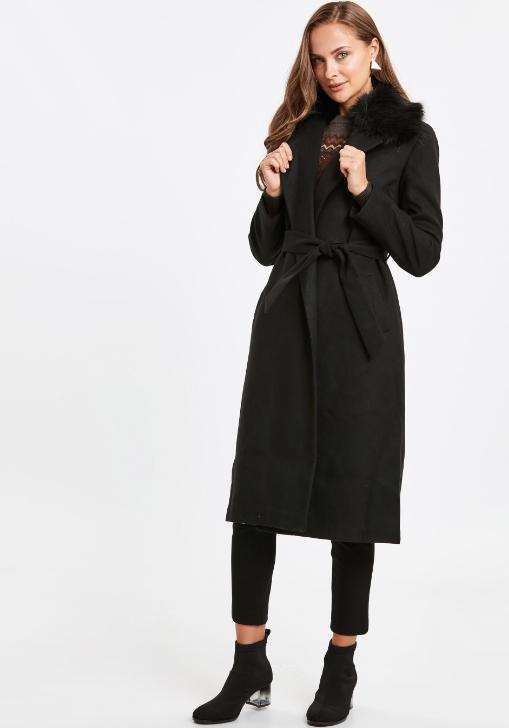 lcwaikiki kürk yaka kaşe kaban modelleri 2018 19
