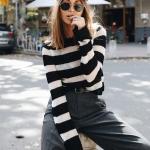 siyah beyaz triko kazak modeli 2018 19