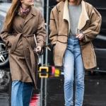 sonbahar kış 2018 2019 kahverengi kaban modelleri