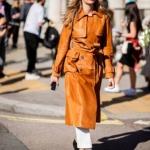 sonbahar kış modası 2018 2019 deri trençkotlar