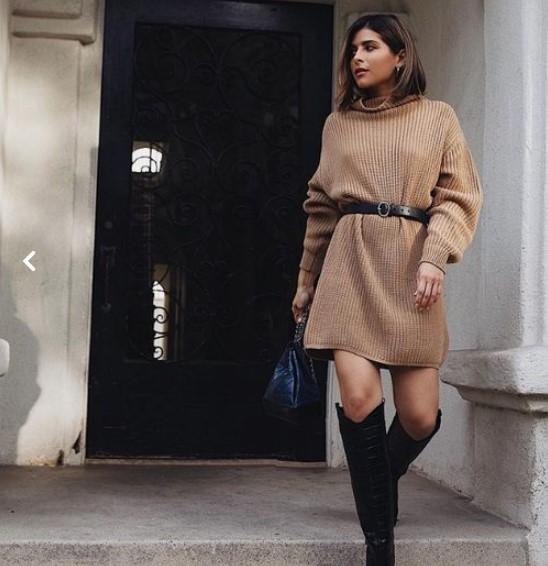 Triko Elbise Modelleri ve Kombinler 2019 2020