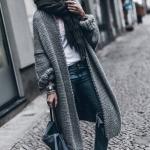 uzun örgü hırka modelleri 2019