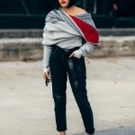 2019 kış modası kazak ile kot kombini