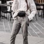 ekose desenli pantolon kombinleri 2019