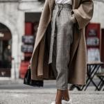 ekose pantolon ile kış kombinleri 2019