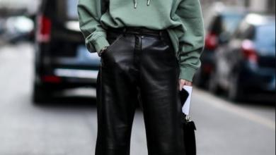 kış modası 2019 deri pantolonlar
