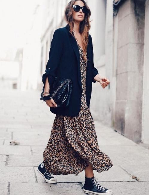 1b3b2fa128c43 Kış Modası 2019 Leopar Elbise Modelleri - Trendler ve Moda