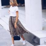 Zara leopar desenli etek modeli 2019