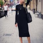 2019 kış siyah elbiseler