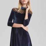 Adil ışık puantiyeli kadife abiye elbise fiyatı 199,90 TL