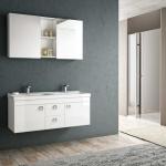 Beyaz modern banyo dolabı 2019