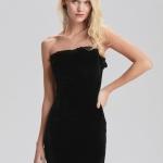 Kadife straplez abiye elbise fiyatı 249,90 TL