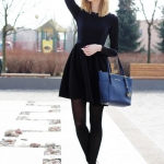 kış modası siyah elbiseler 2019